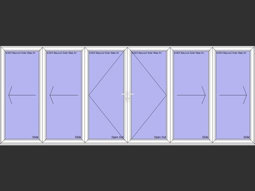 6 panel aluminium white bi fold door folding doors 2u for 10 panel bifold door