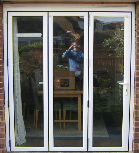 2 Panel Bifold Doors : White upvc bi fold door folding doors u